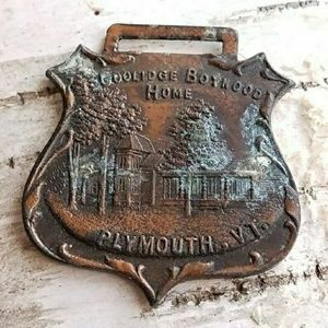 Vintage Coolidge Boyhood Home medal
